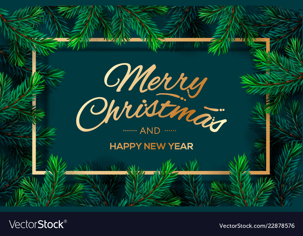 Christmas tree branches template merry christmas