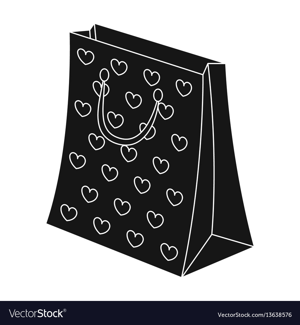 Gift package with beautiful patterns stars and vector image