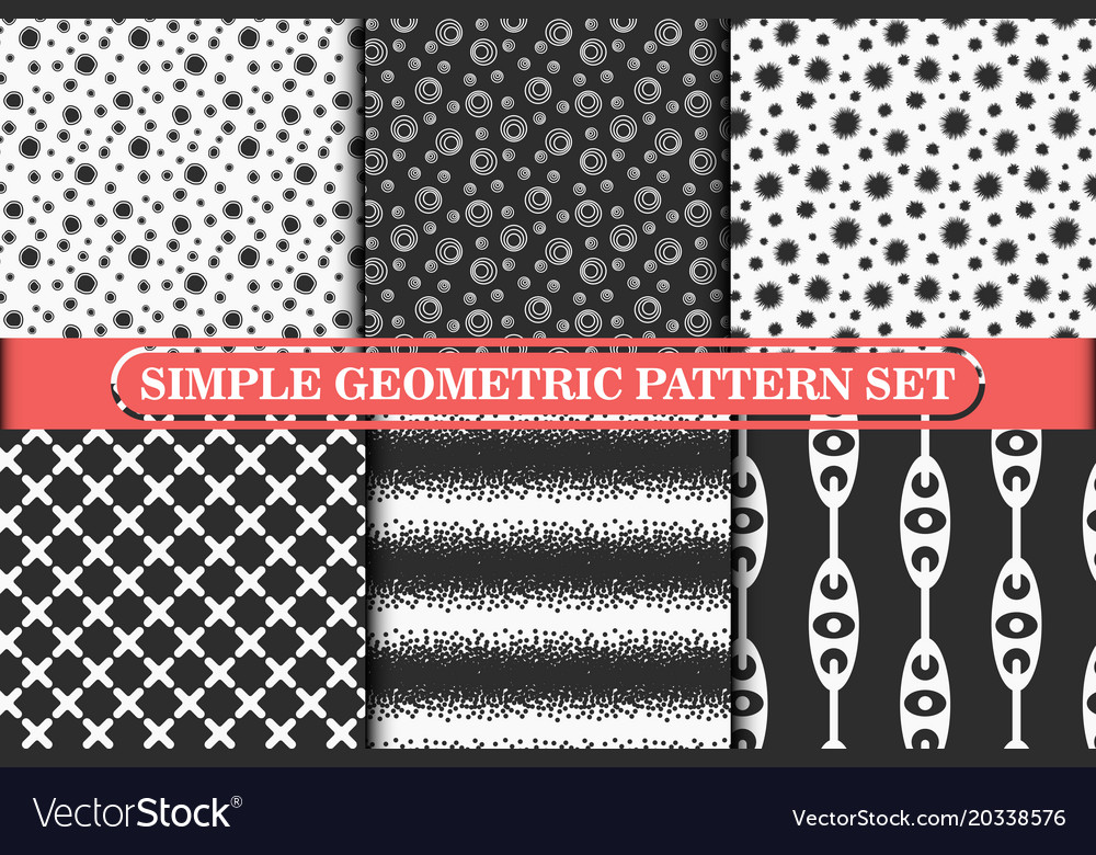 Minimalist simple geometric seamless pattern
