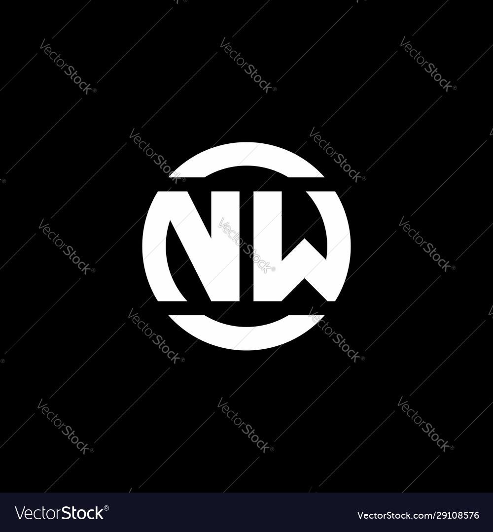 Nw logo monogram isolated on circle element