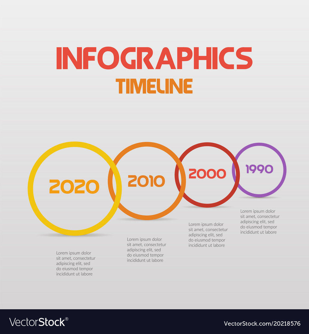 Round steps timeline circle infographics - can