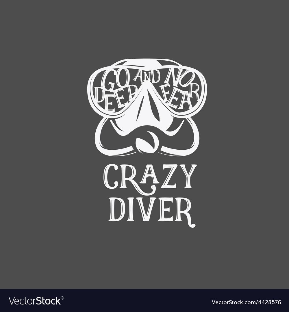 T-shirt print Crazy diver
