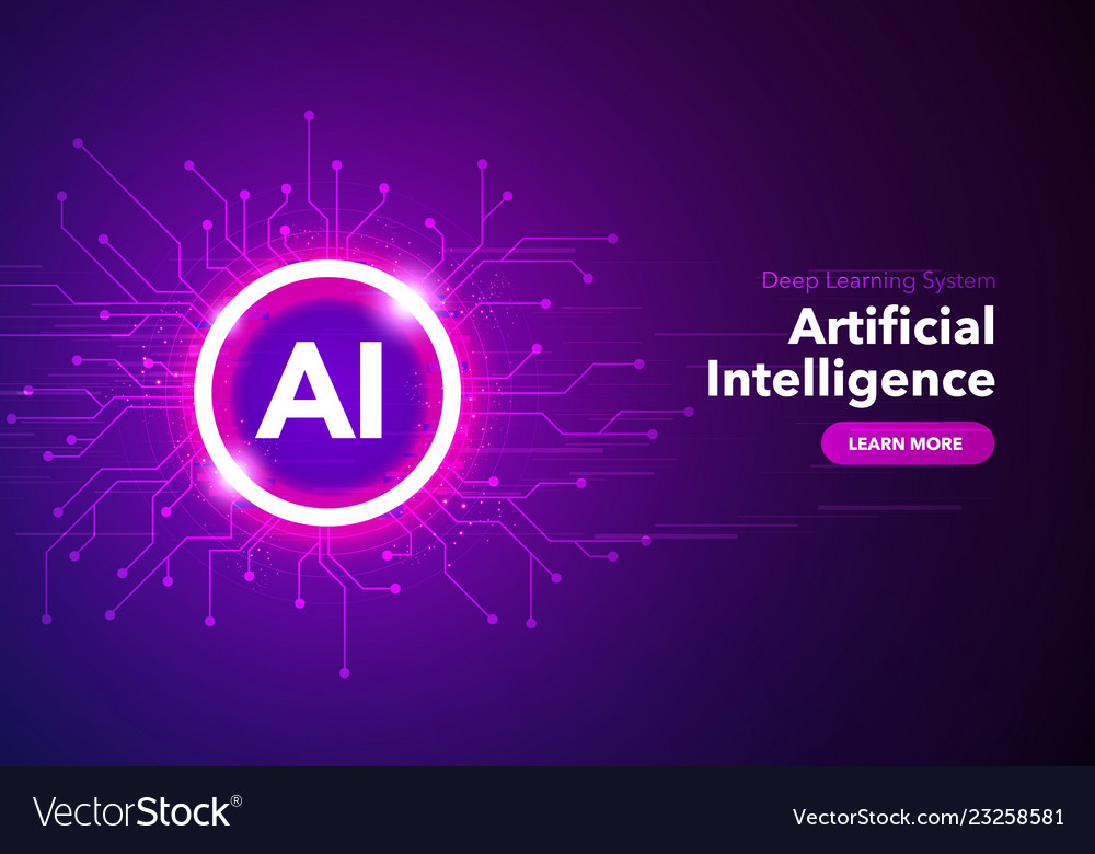 Artificial intelligence landing page concept