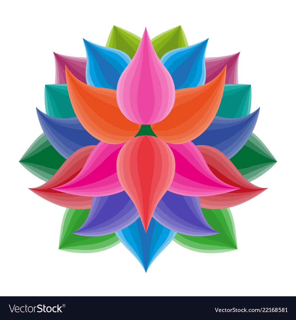 Beautiful lotus flower symbol colorful