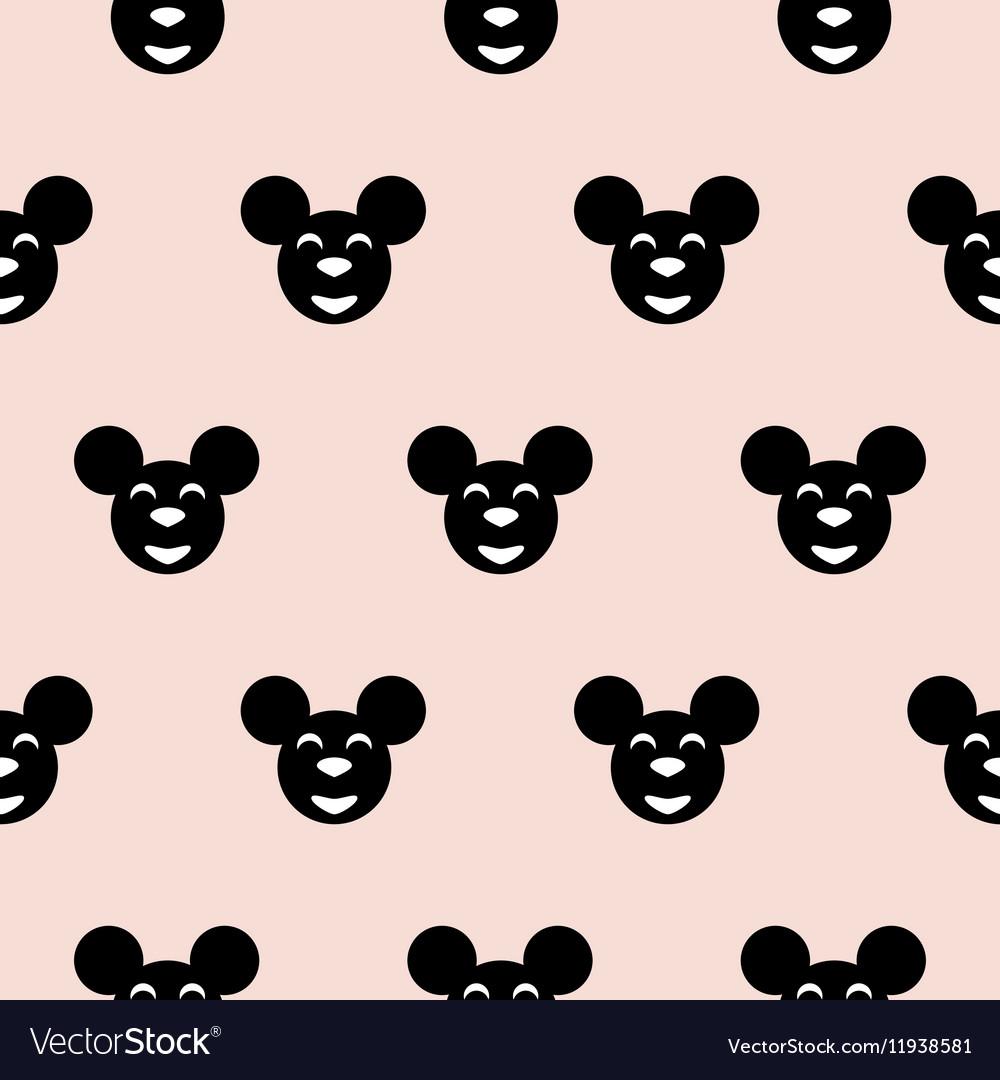 Black hipster mouse kid scandinavian pattern