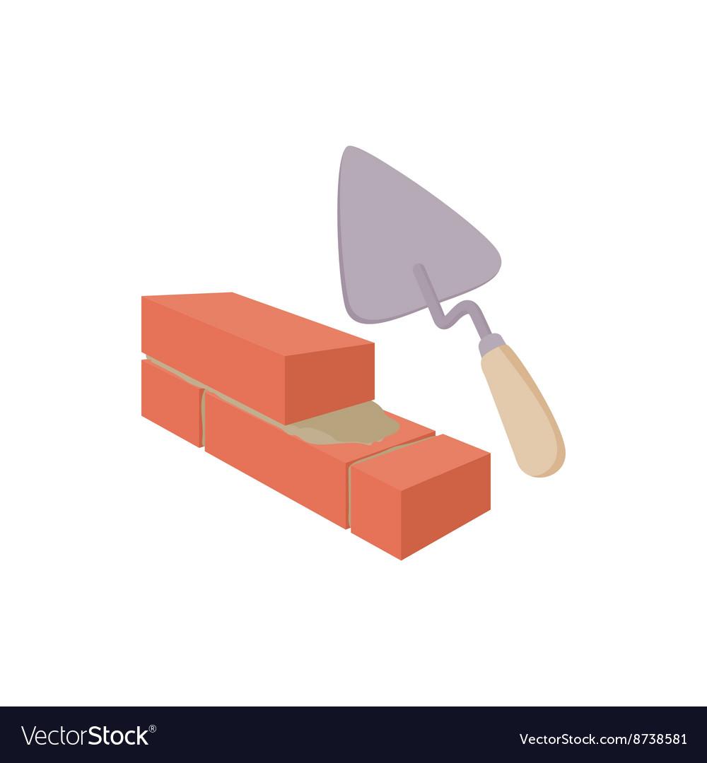 Brickwork and building trowel icon