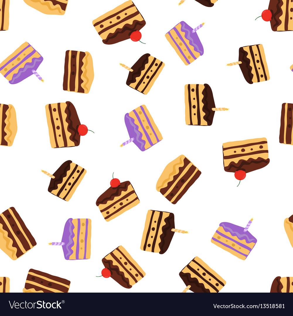 Cake pattern seamless background