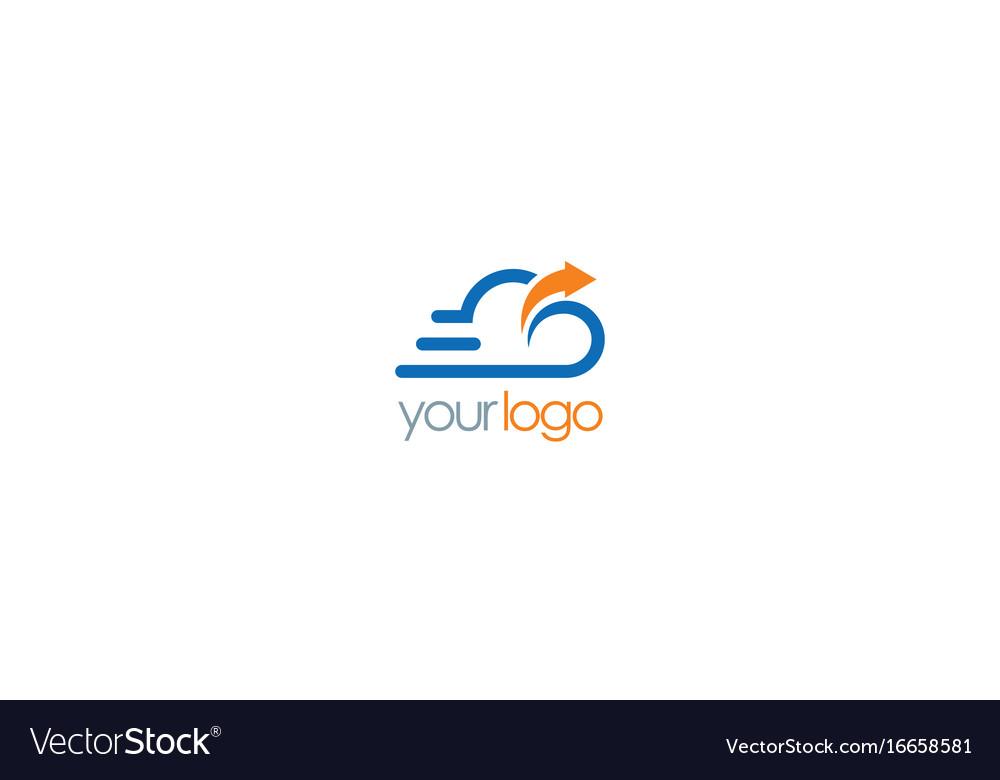 Cloud upload technology logo