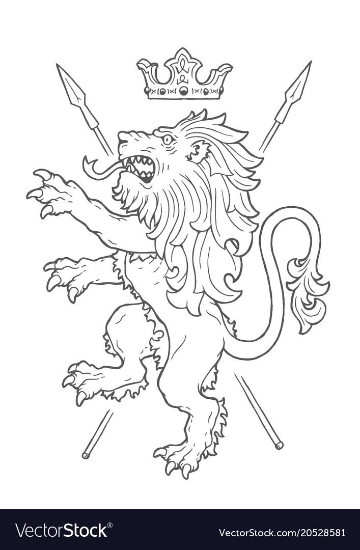 Fighting lion insignia