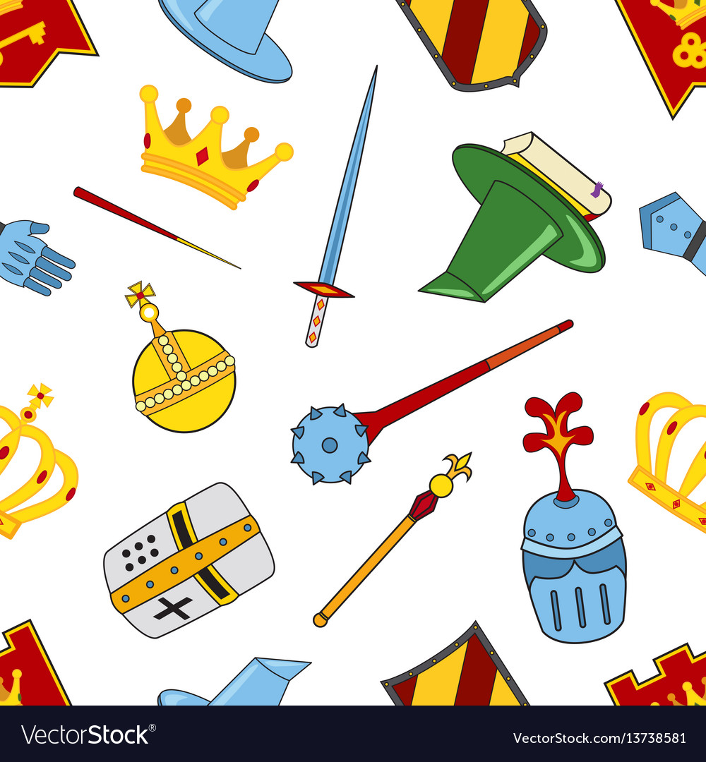 Kingdom pattern - castle spear shield knights
