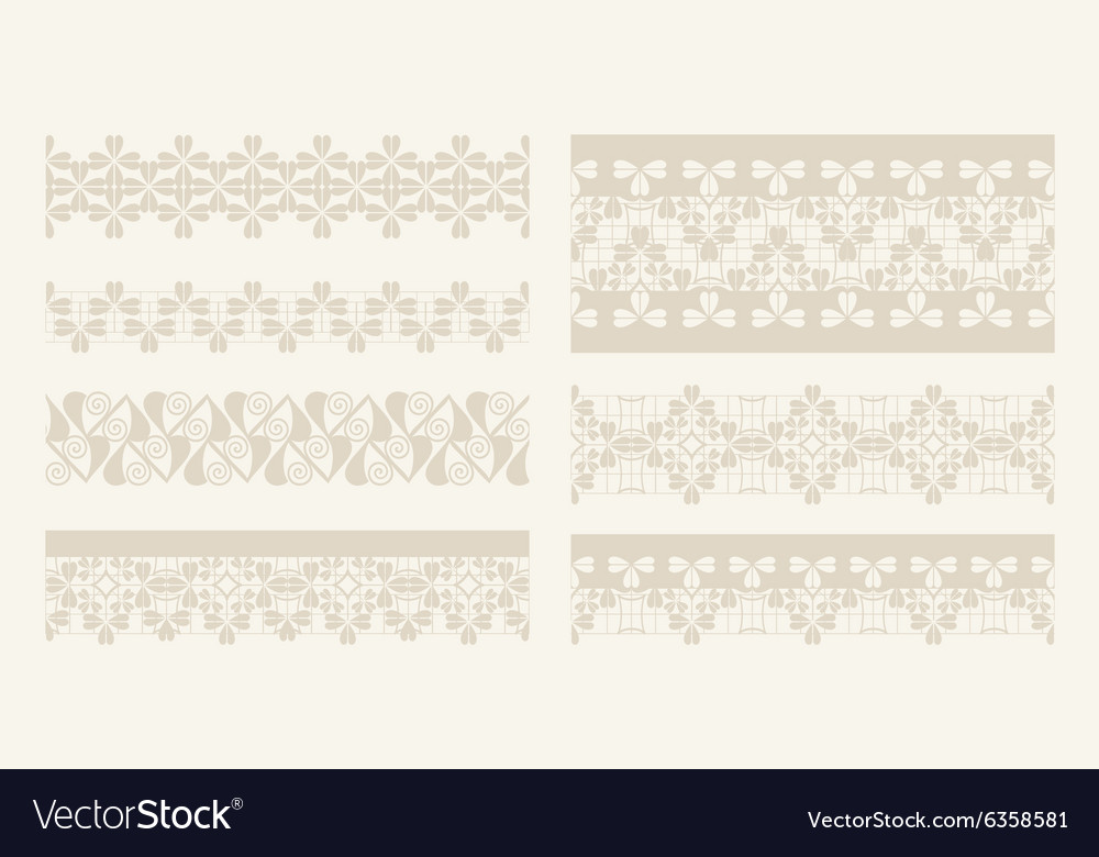 Lacy vintage design elements lace seamless