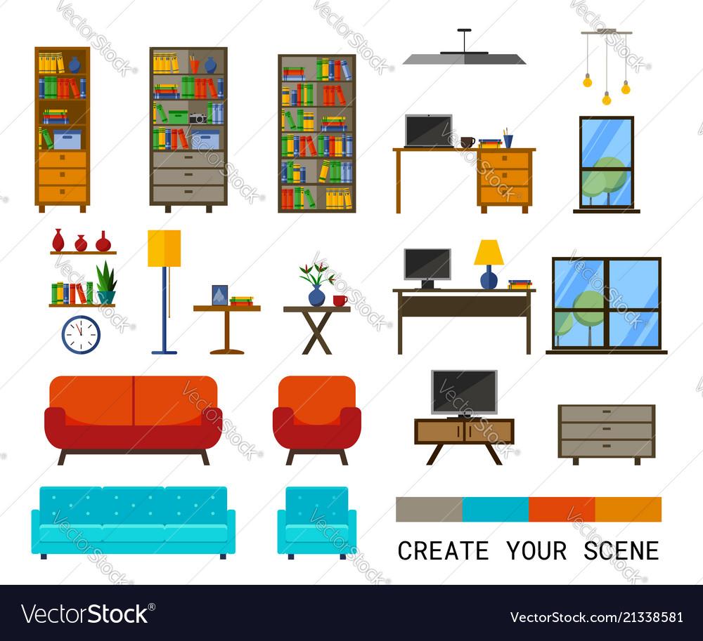 Office interiors creation kit