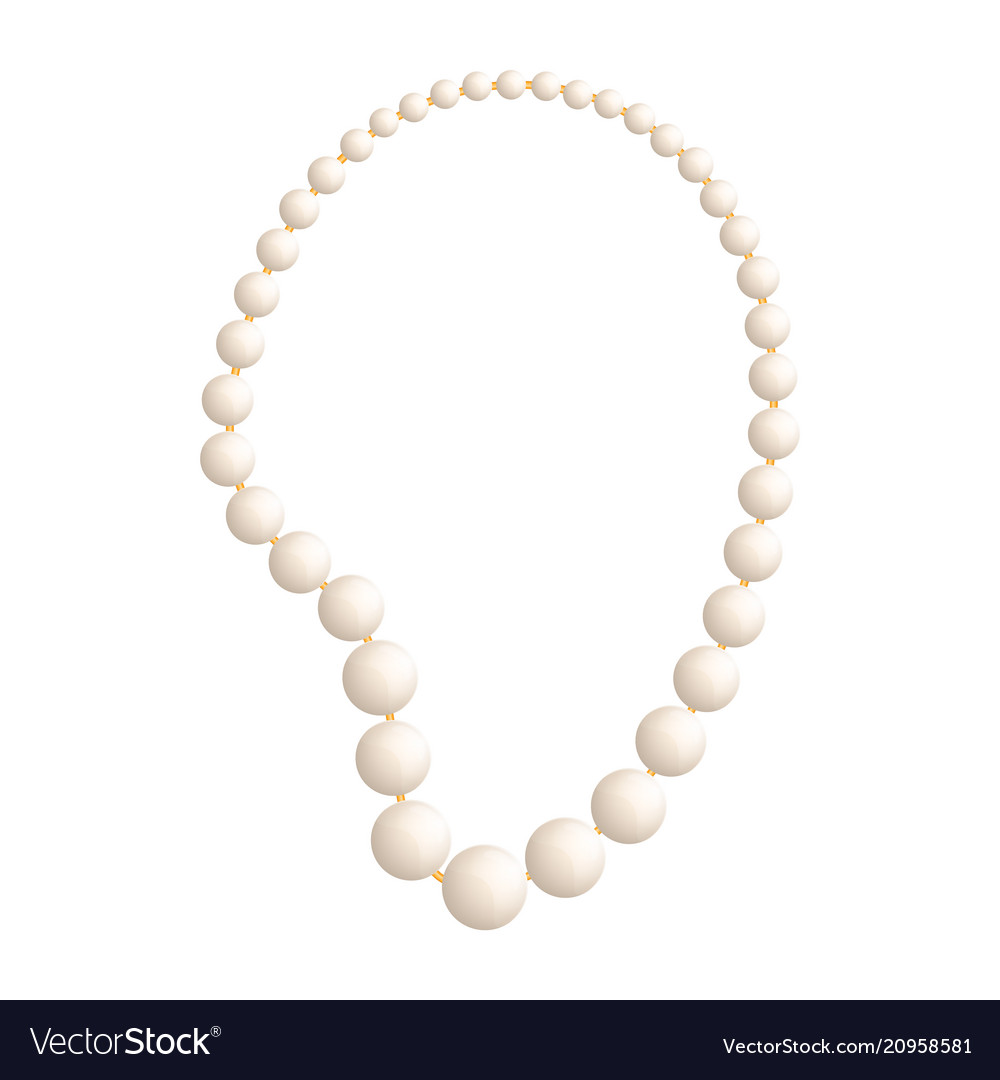 Pearl jewelry mockup realistic style vector image