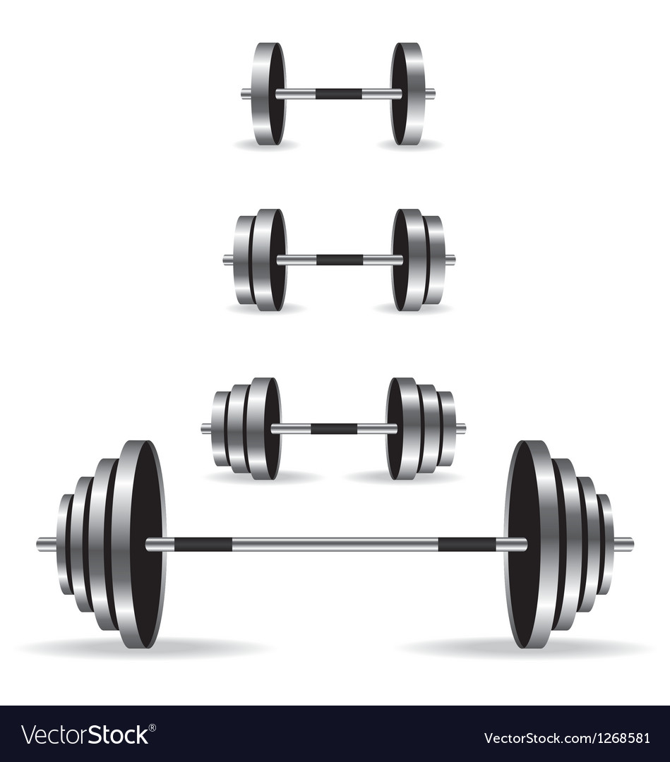 Weights collection vector image