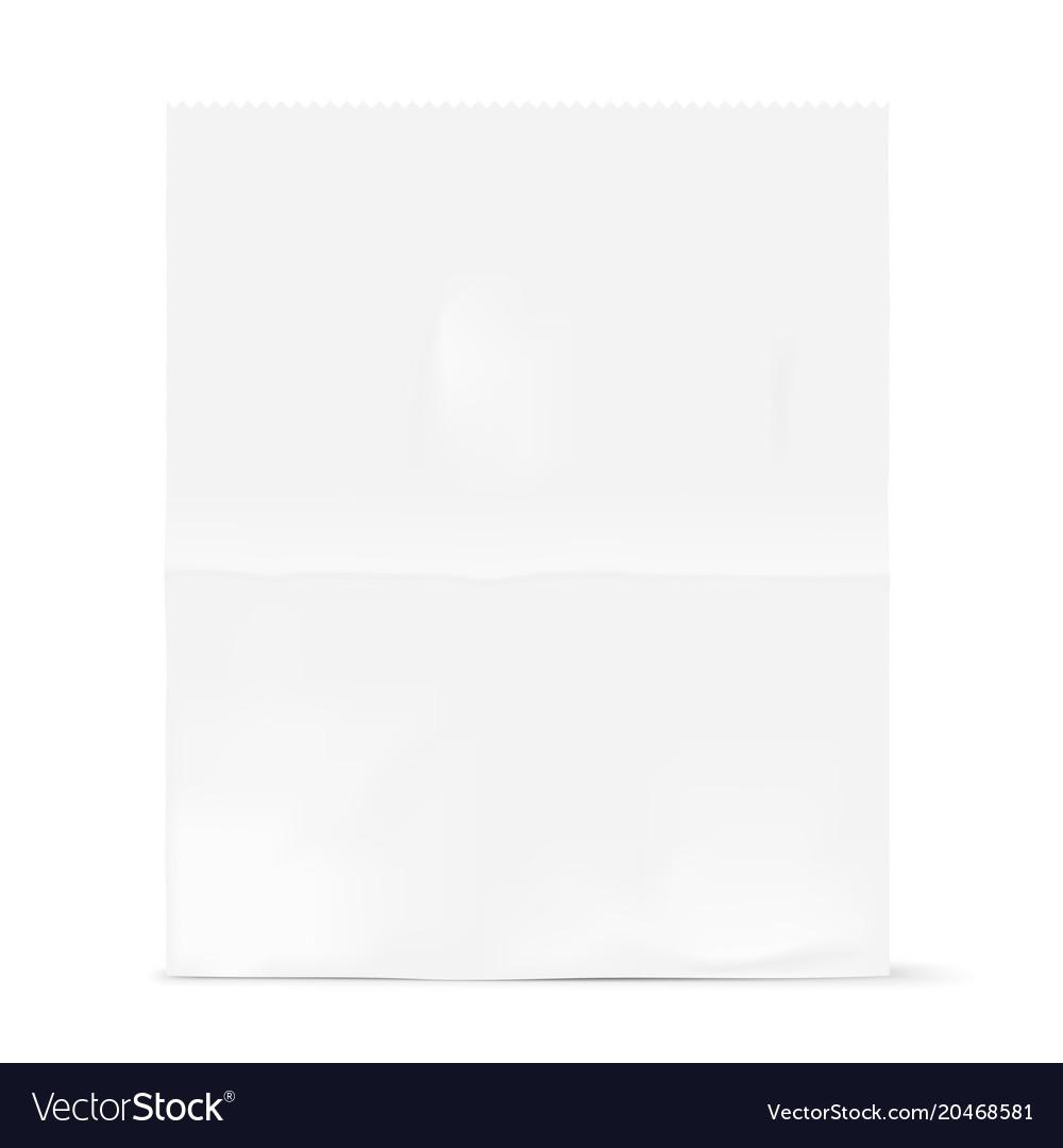White bag mockup vector image