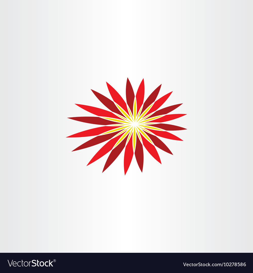 Abstract red flower symbol icon design