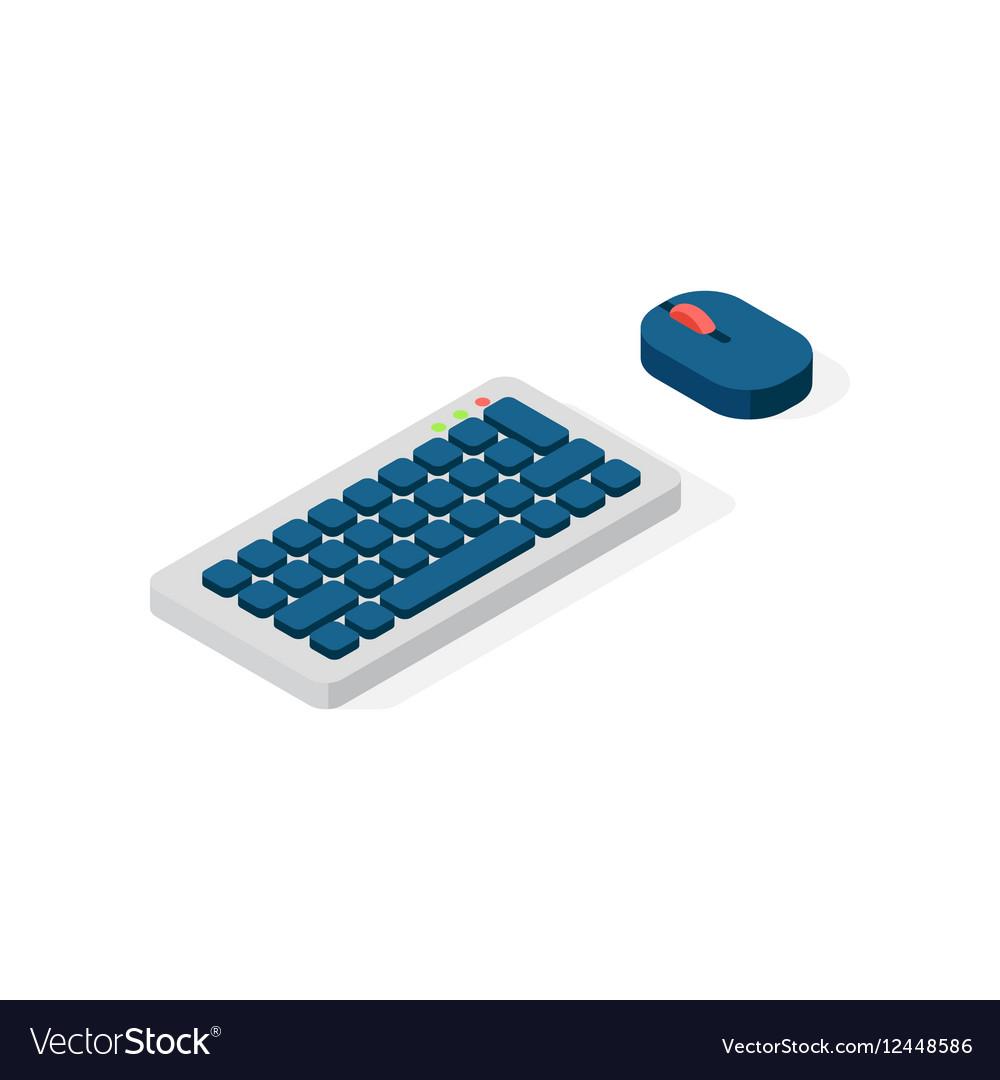 Computer keyboard flat icon