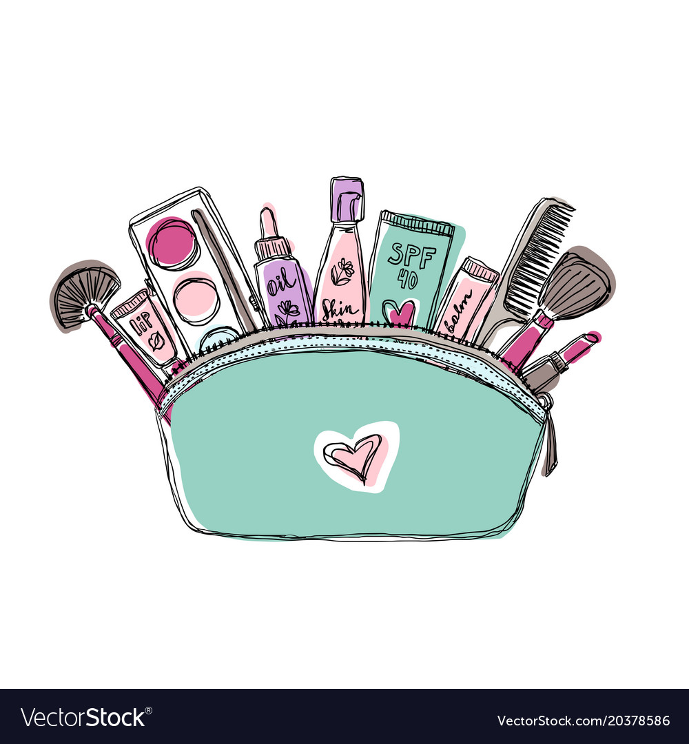 Female skincare cosmetic products in a cosmetic