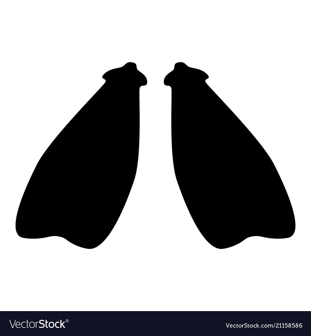 Flippers icon black color flat style simple image