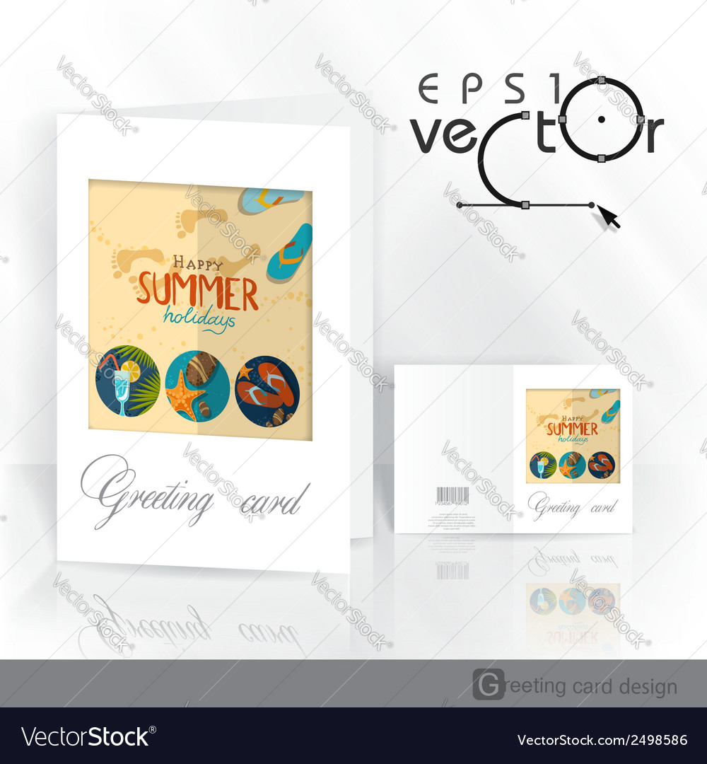Greeting Card Design Template Royalty Free Vector Image