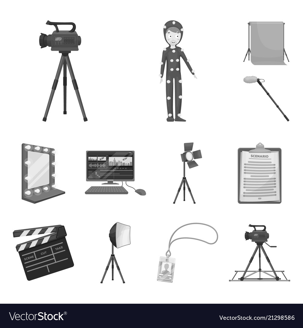 Making a movie monochrome icons in set collection