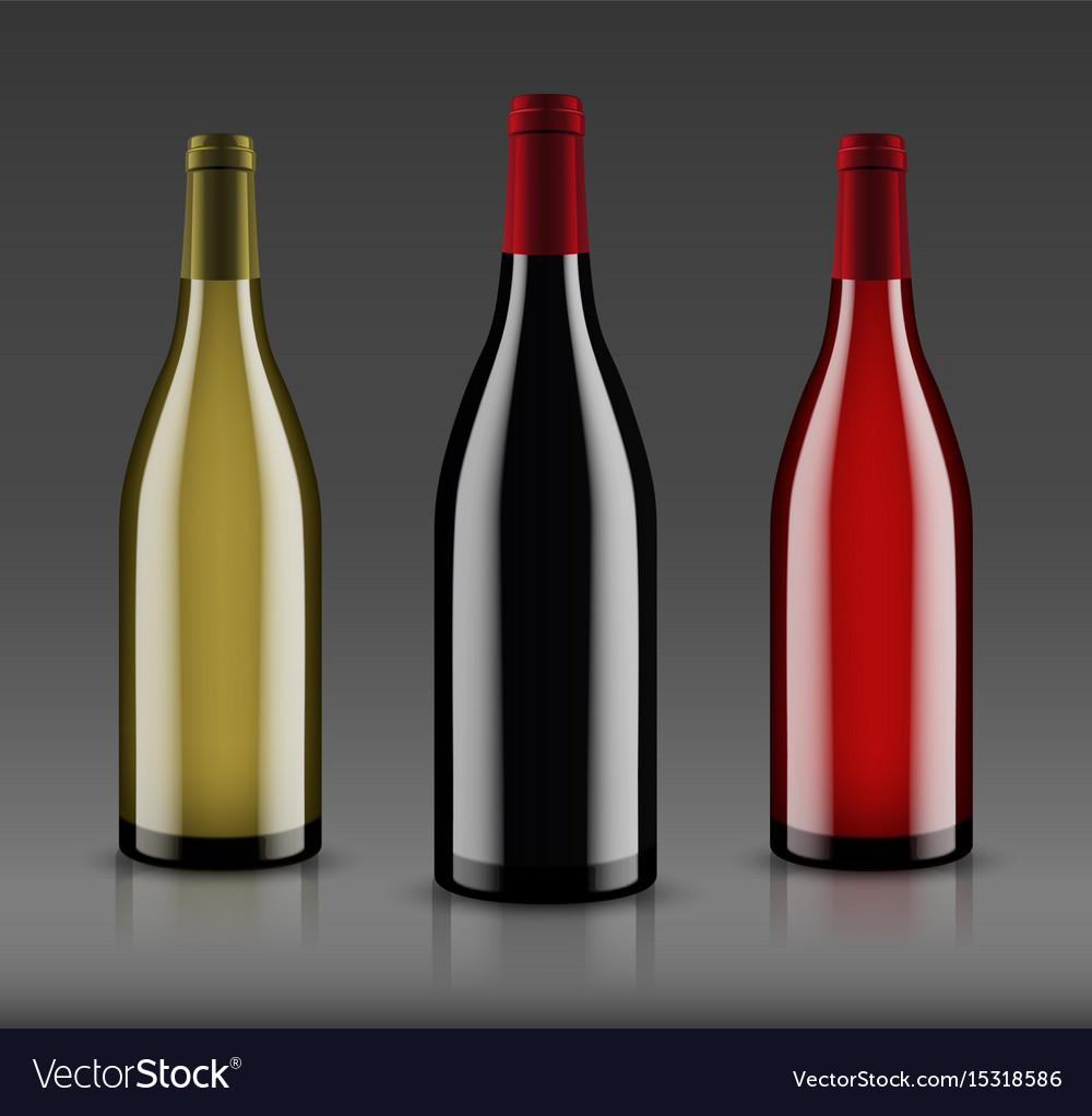Mockup wine bottle design