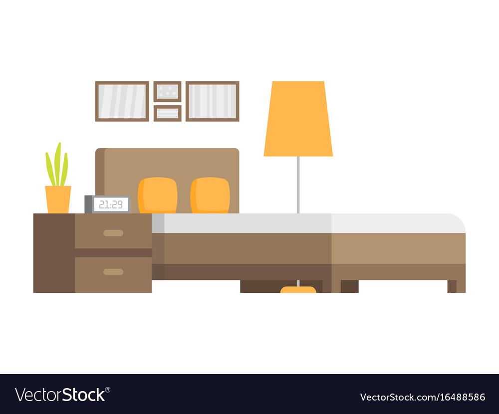 Modern badroom interior design icon