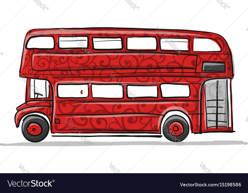 Red bus sketch for your design