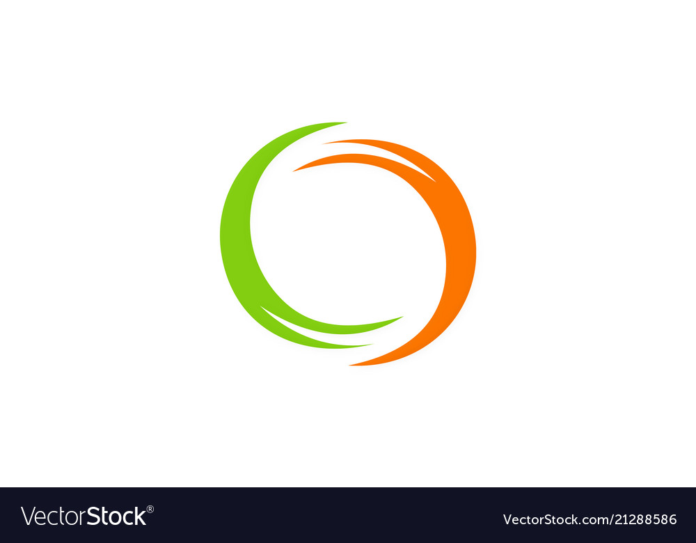 Round abstract colored logo