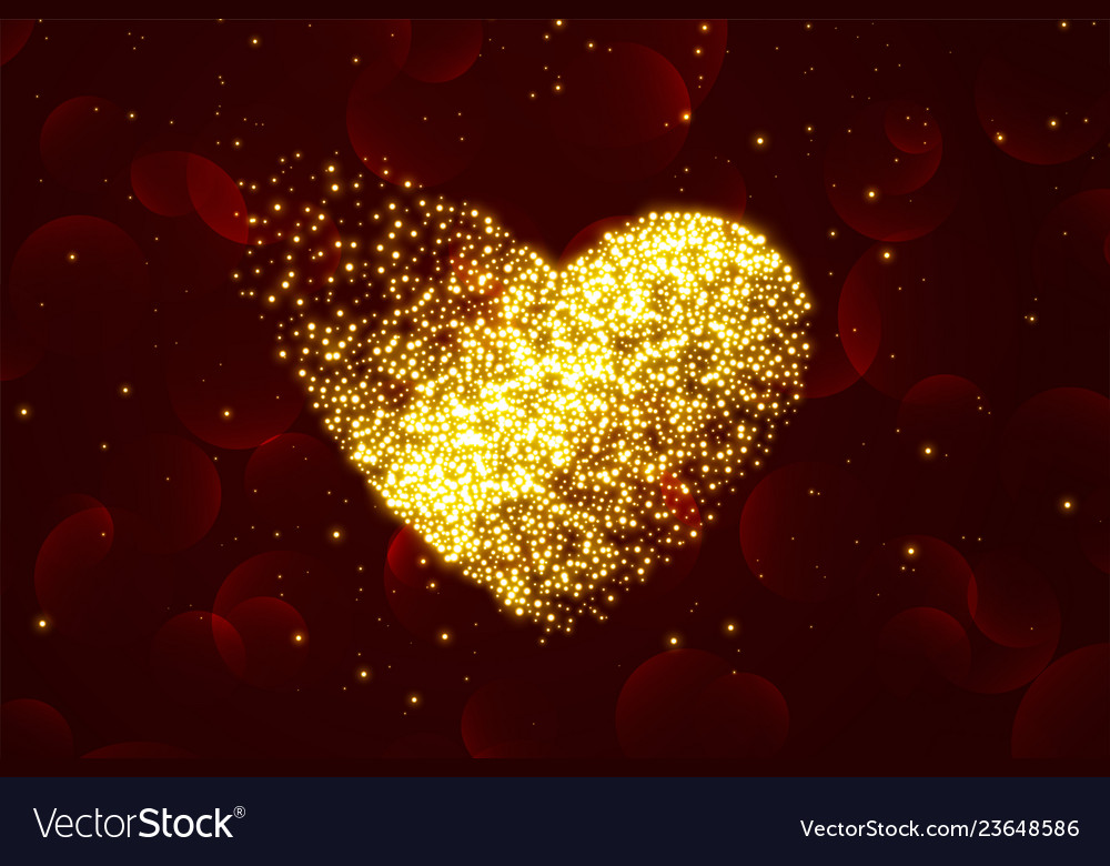 Shiny particle hearts background for valentines