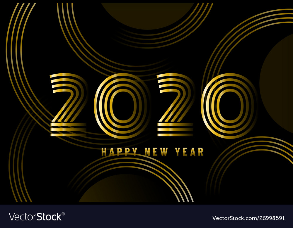 2020 happy new year abstract card design with