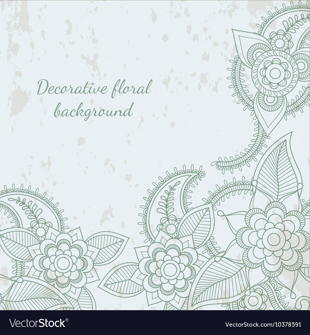 Decorative Flower Leaf Henna Background Royalty Free Vector