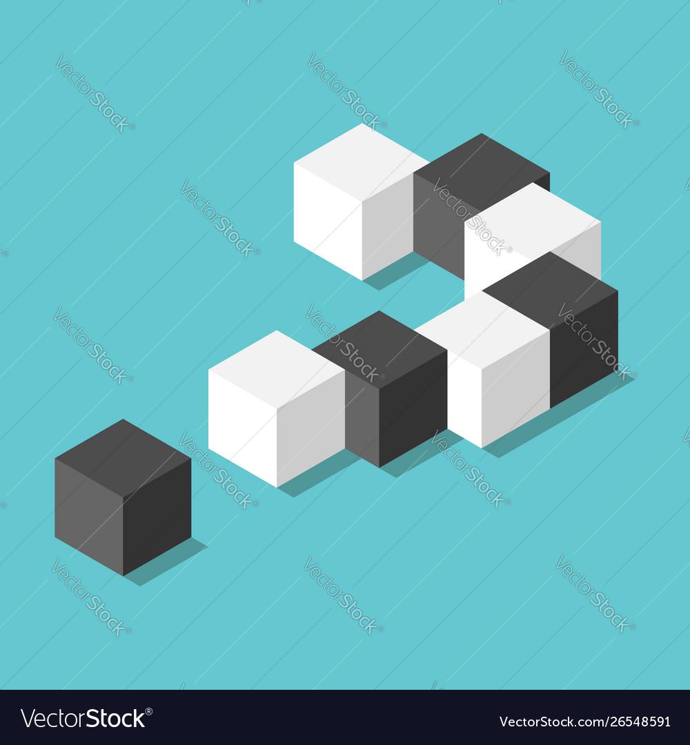 Isometric question mark