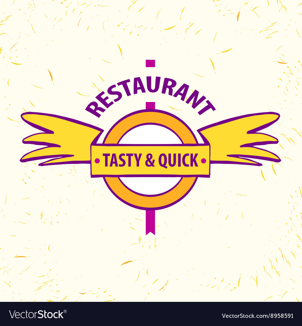 Logo restaurant cafe Quick and tasty vector image