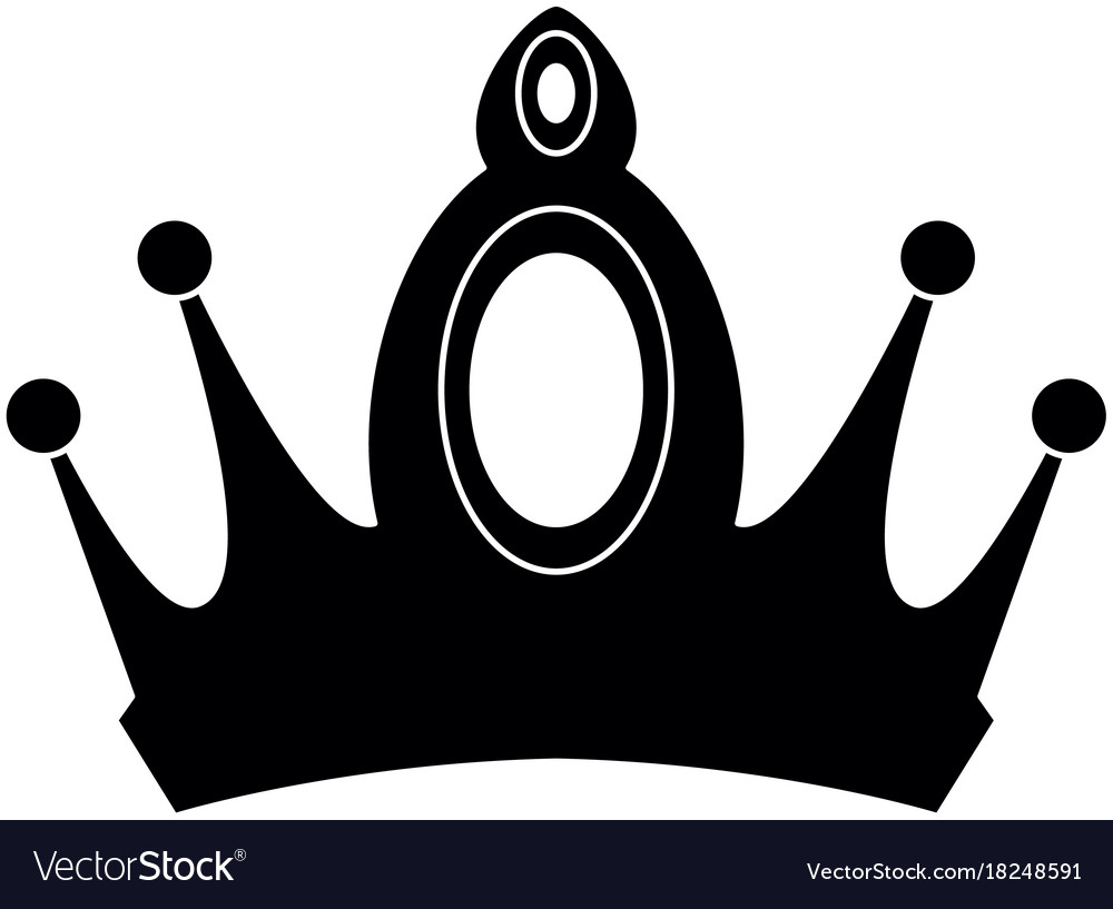 Queen Crown Isolated Icon Royalty Free Vector Image