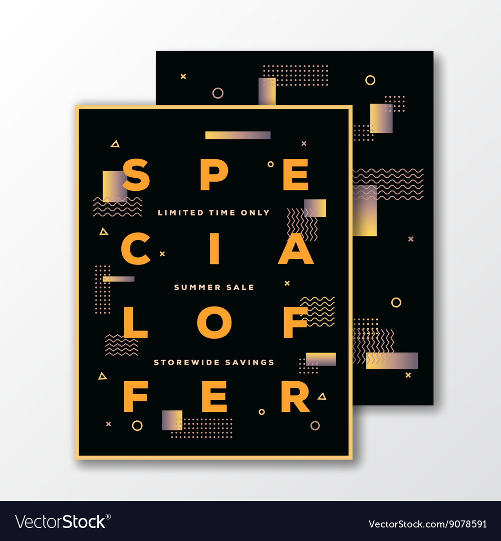 Sale Special Offer Poster Card Or Flyer Template Vector Image