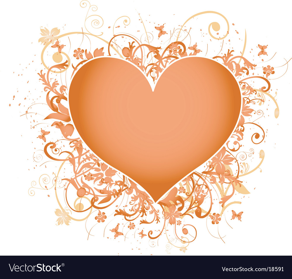 Valentines heart frame vector image