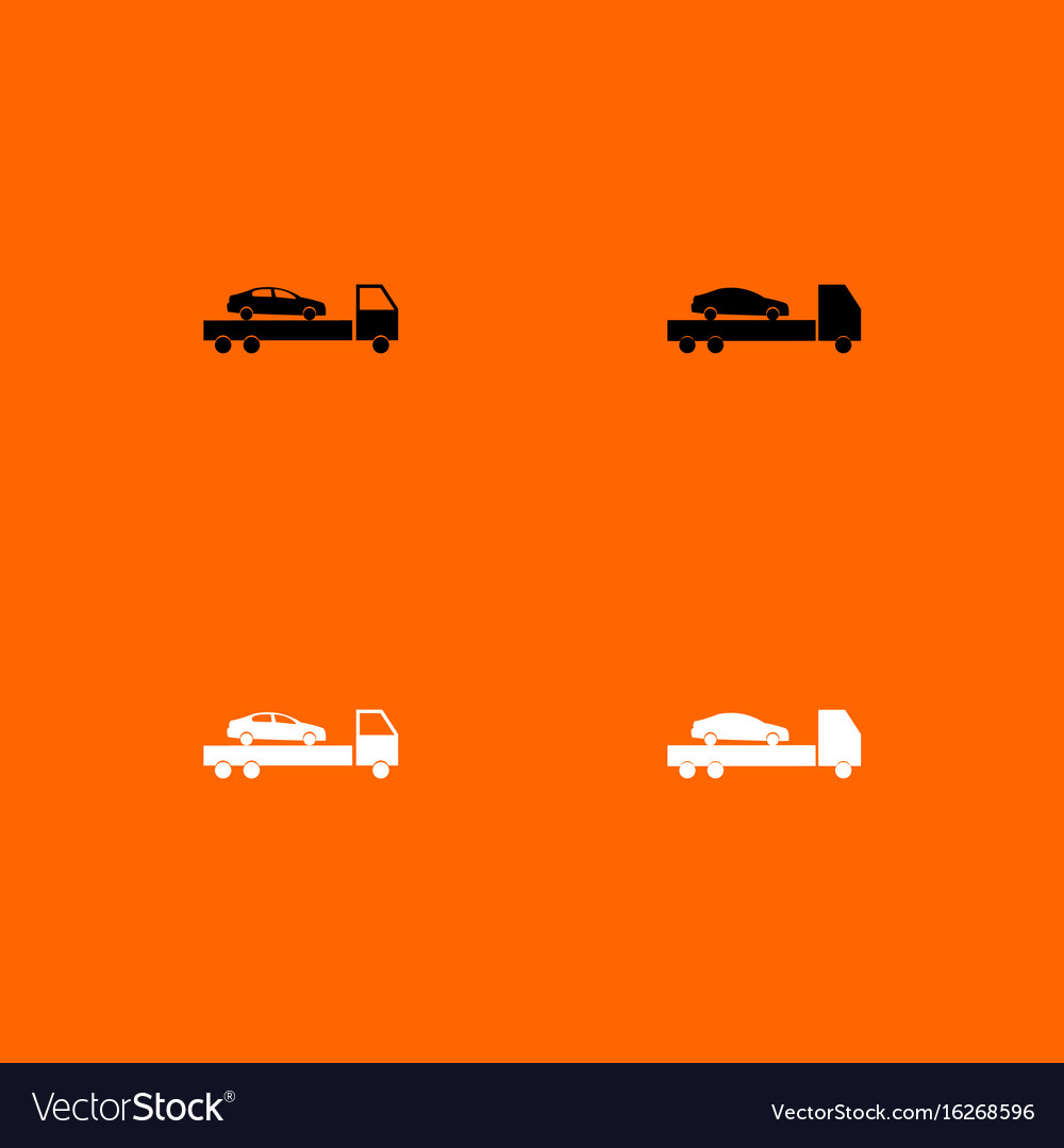 Car service black and white set icon vector image