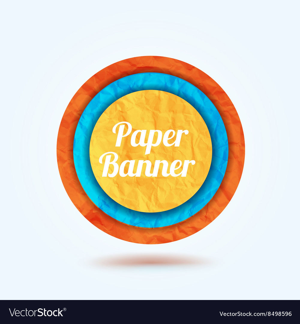 Colorfull paper banner background for your text