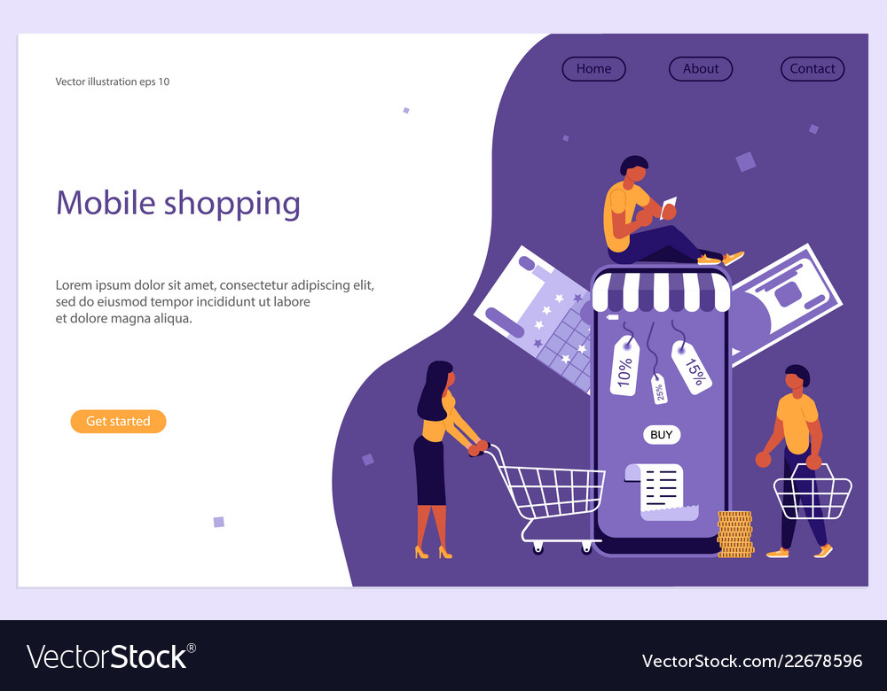 Mobile shopping e-commerce and online store