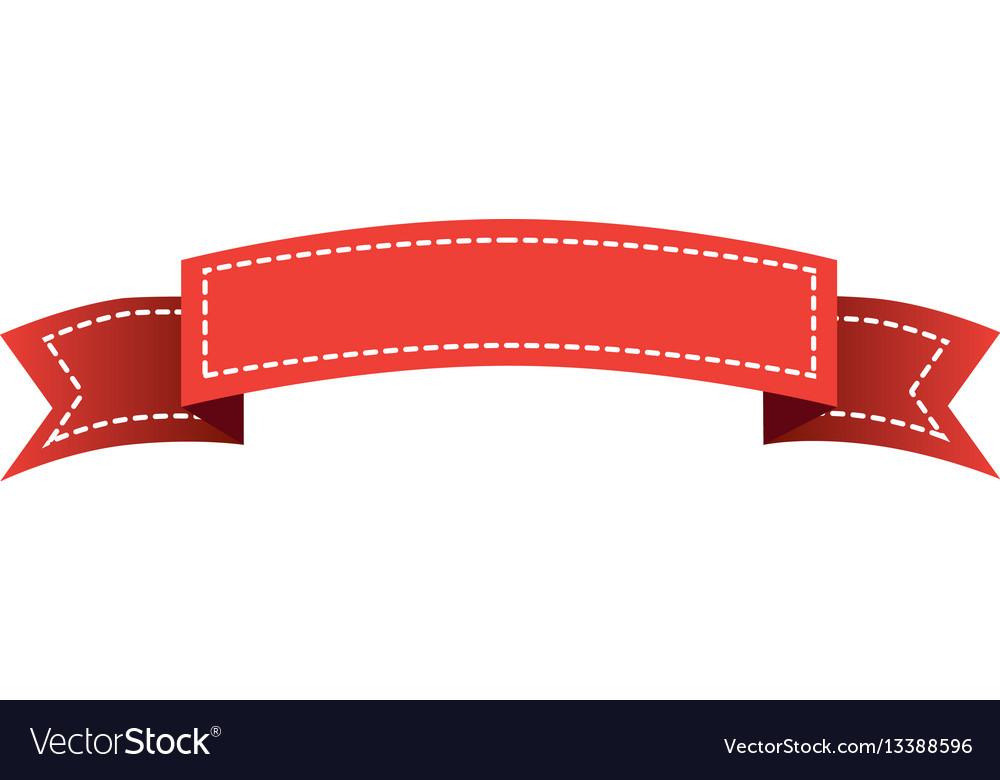 Red long ribbon decorative icon