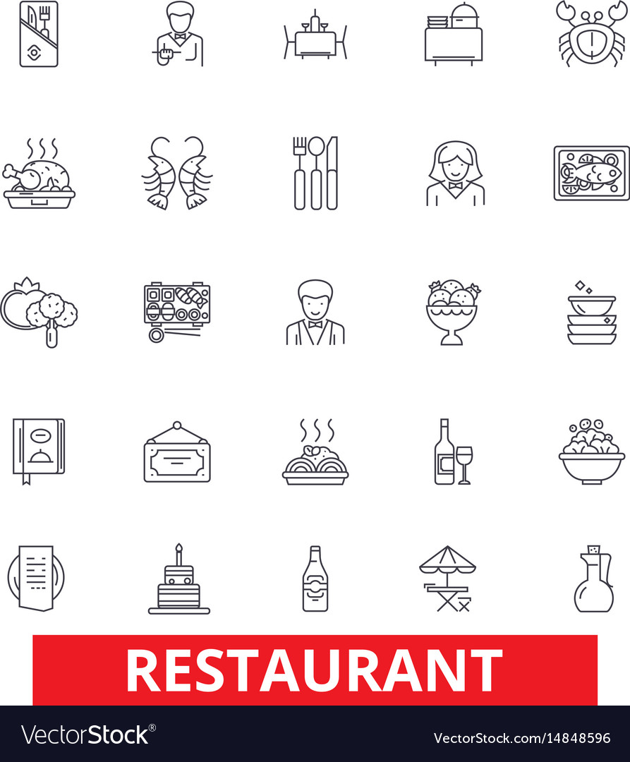 Restaurant diner menu pub culinary bar vector image