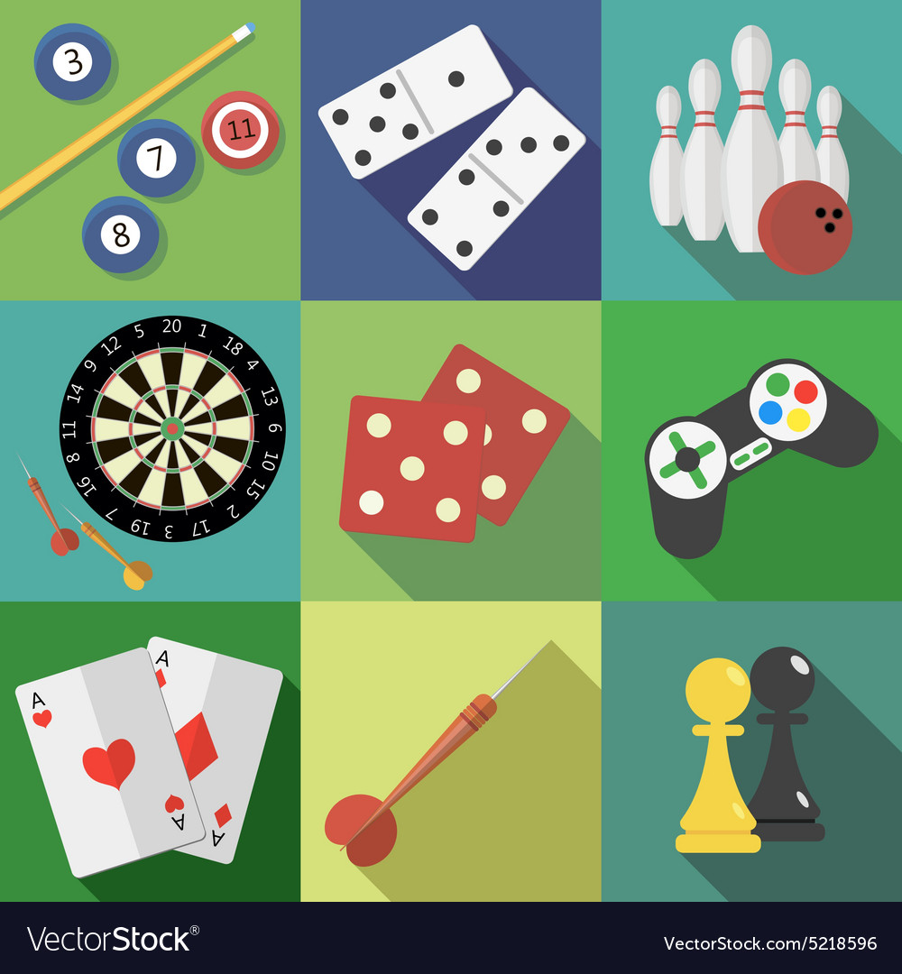 Set of game and sport icons