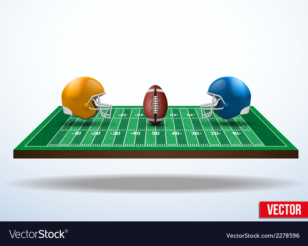 Symbol of a american football game on field