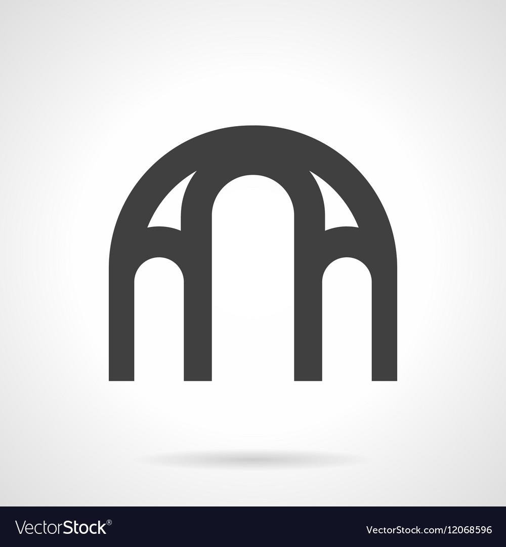Window arch glyph style icon