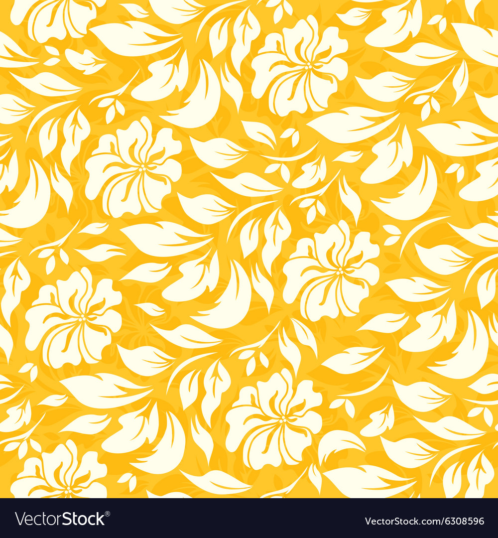 Yellow Seamless Floral Background Royalty Free Vector Image