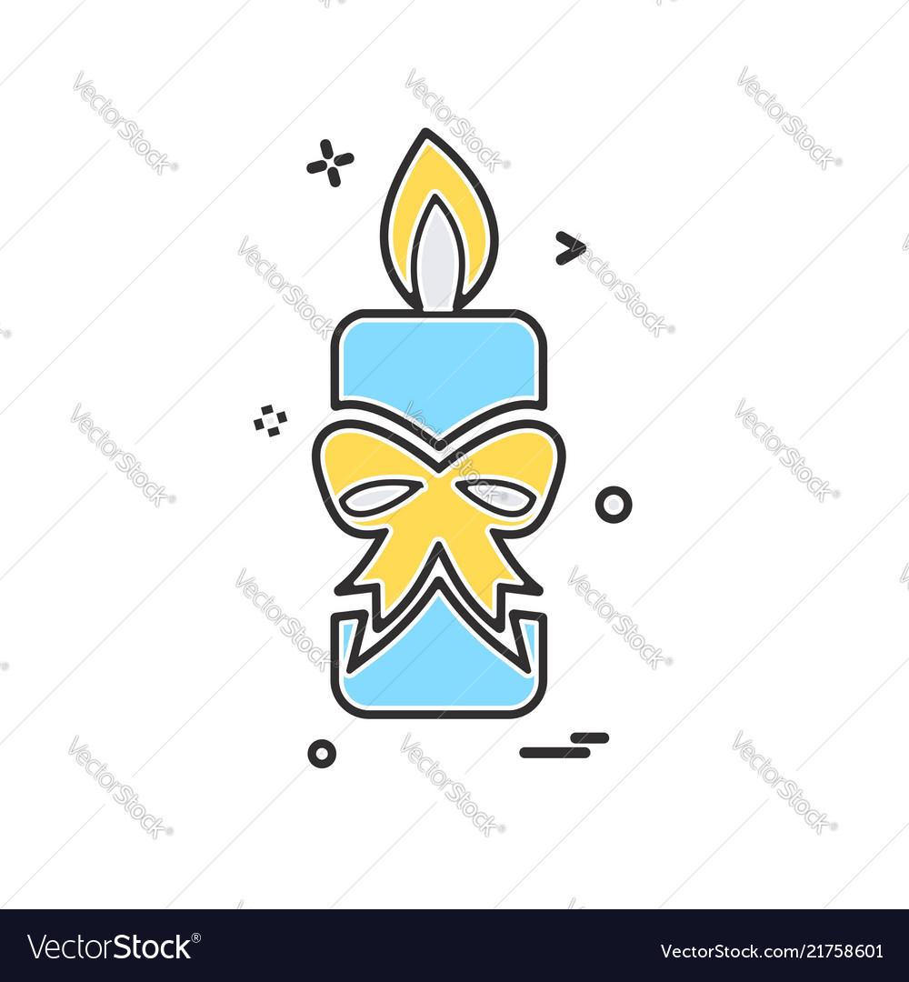 Candle icon design