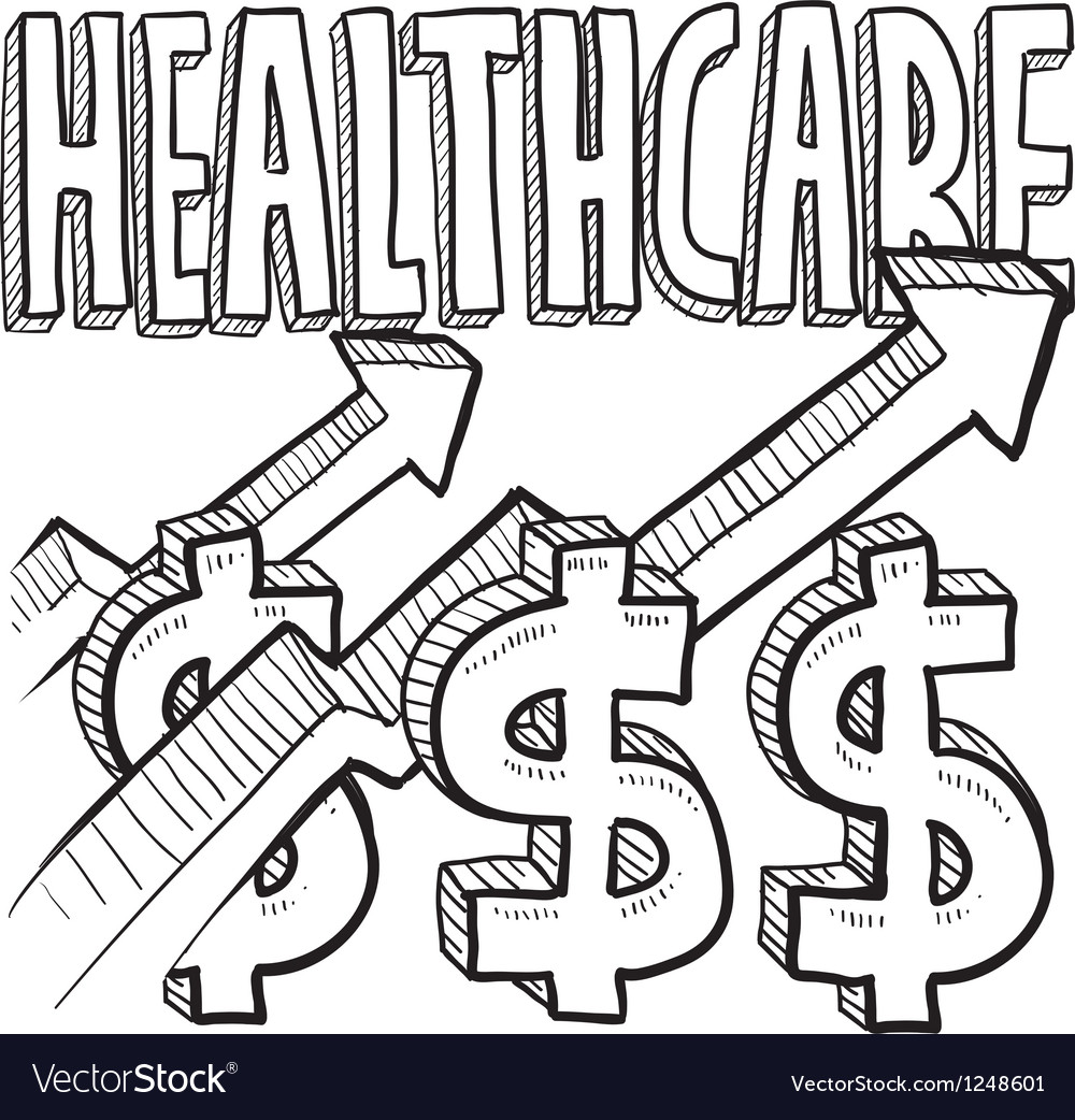 Healthcare costs increase vector image