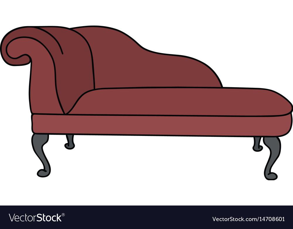 Red Sofa Royalty Free Vector Image