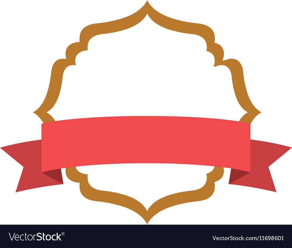 Isolated Decoration Frame With Ribbon Design Vector Image
